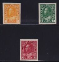 Canada Sc #136-8 (1924) 1c-3c Admiral Imperforate Set Mint VF NH MNH