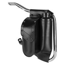 Black Saddlebag Guard Bag Water Bottle Holder For Harley Road King Electra Glide