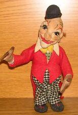 Antik Dresdner Puppe 1940-50er Jahre Clown 18cm
