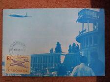 AVIATION 105 airplane 1965 airport Bucarest BANEASA ROMANIA aircraf MAXIMUM CARD