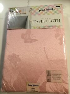 "Spring Splendor Damask 90"" Round Pink Tablecloth"
