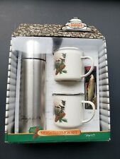 Nib Rapala Fishing Set With Thermos, Mugs, & Rapala Lure Gift Set -box With Wear
