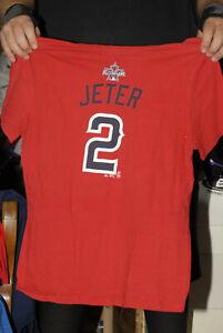 Derek Jeter 2010 All Star game t shirt jersey Yankees captain ladies 2xl SS AL