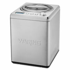 Waring Wcic25 2 1/2 qt Electric Ice Cream Maker - Stainless Steel, 120v