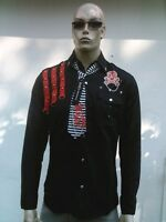 Cooles PUNK FASHION ANARCHY LONDON Patch Designer HEMD SHIRT M/L 50