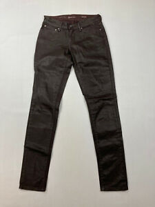 LEVI'S Demi Curve Skinny Jeans -W25 L32 -Faux Leather -Great Condition -Women's