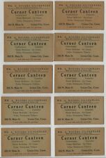 Lot of 10 - 1947 WM. Rogers Silverware Coupons - Corner Canteen Union City CT