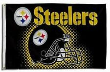 NEW Pittsburgh Steelers Flag with Helmet Large 3'X5' NFL FREE SHIPPING