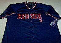 BOSTON RED SOX BUTTONDOWN JERSEY By TRUE FAN MLB GENUINE MERCHANDISE ADULT Sm