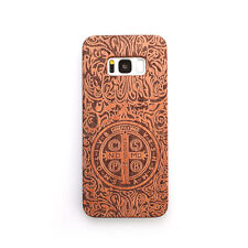 100% Natural Wooden Wood Bamboo & PC Case Cover For Samsung Galaxy S8 & S8 Plus
