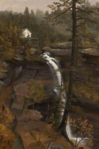 Sanford Robinson Gifford Kauterskill Falls Poster Giclee Canvas Print