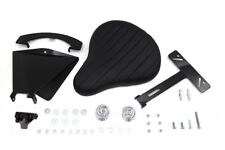 Black Leather Solo Seat With Mount Kit For Harley-Davidson