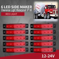 10x Universal LED Side Marker Light Warning Lamp Truck Trailer Super Bright