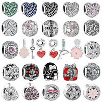 New High Quality Crystals Charms Bead For Diy Fashion Woman 925 Silver Bracelets