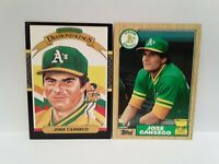 Jose Canseco 1986 Donruss Diamond Kings ROOKIE + 1987 Rookie Cup