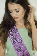 Hen Party Sash - Bride To Be - Classy PURPLE glitter