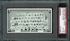 1968 Topps Test Team Photos #18 Houston Oilers PSA 4 .