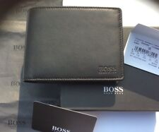 NEW DESIGNER HUGO BOSS WALLET STYLE AREZZO TRIFOLD BLACK COIN POCKET