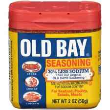 OLD BAY 30 % Percent Less Sodium Seasoning Seafood Poultry Meats Salad