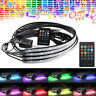 4x RGB LED Strip Under Car Tube Underglow Underbody Neon Light Kit Remote