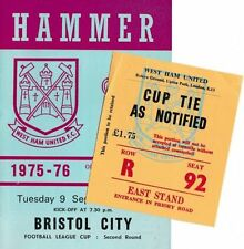 Teams A-B Bristol City Football Programmes with Match Ticket