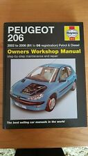 HAYNES WORKSHOP MANUAL PEUGEOT 206 2002 TO 2006 PETROL AND DIESEL