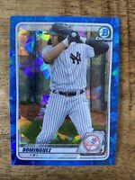 JASSON DOMINGUEZ *2020 Bowman Sapphire Prospect Yankees Cracked Ice 151