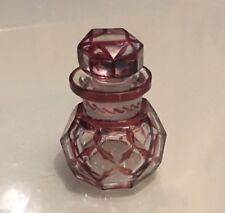 ART DECO GLASS SCENT PERFUME BOTTLE