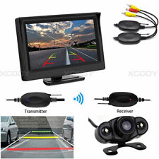 """5"""" Rear View Monitor Display + Wireless Backup Camera 170° For Car Truck Auto"""