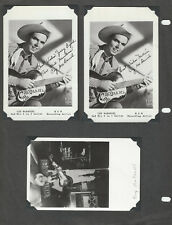 Coy McDaniel Promo Postcards 2 Are Signed Grand Ole Opry