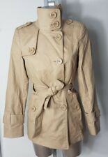 OASIS WOMENS BEIGE PARKA MAC TRENCH COAT JACKET BELT SIZE UK 8 EU 34