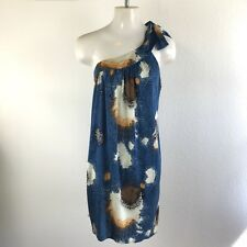 Twelfth Street by Cynthia Vincent Womens Dress Silk Shift One Shoulder Size S