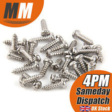 M2.6 Self Tapping Steel Screws Round Pan Head Micro Cross Phillips x 40