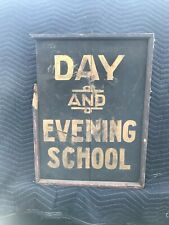 Late 19th/Early 20 Century Antique Primitive Wooden Sign. Black & Gold