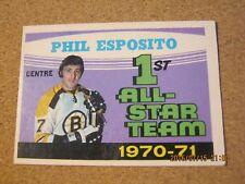 1971 72 OPC O Pee Chee #253 Phil Esposito - Boston Bruins 1st All-Star        XX