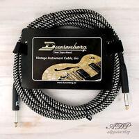 Cable Jack/Jack 6,35mm Droit Vintage TWEED Straight Black