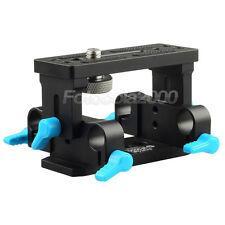 FOTGA DP3000 Tripod Mount BasePlate Support Base Plate for 15mm DSLR Rail Rods