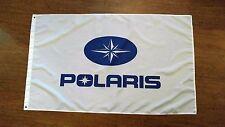 POLARIS FLAG BANNER WHITE LOGO 3X5FT ATV OFF ROAD 4 WHEELER JET SKI BOAT WAKE