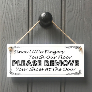 Please Remove Your Shoes - Little Fingers Touch Our Floor Remove Shoes Sign
