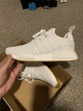 Adidas NMD R1 Cloud White Gum Men's Shoes D96635 Size 9.5 New Damaged Box