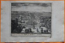 VAN DER AA Gravure originale c1725 LE BASSIN D'APOLLON À VERSAILLES
