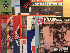 11 Mixed Liverpool FC Cup Semi-Final Match Football Programmes From 1974-1992