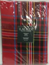 """NEW Ralph Lauren Baker Plaid Red 70"""" Round Christmas Holiday Tablecloth"""