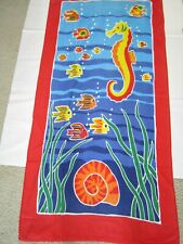 Fishes and Seahorse Beach Towel 56 x 28 Inches