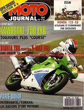 MOTO JOURNAL  974 KAWASAKI 750 ZXR-7 YAMAHA Vmax HONDA CG Stéphane Peterhansel