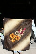 36-13 Vintage horse drawn lap robe beautiful flowers