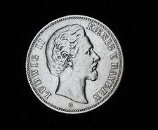 5 Mark Bayern Ludwig II 1876 D Silber Kaiserreich