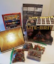 Vintage Hasbro 1968 5455 Works Lite-Brite Light Bright with Pegs & Punch Sheets