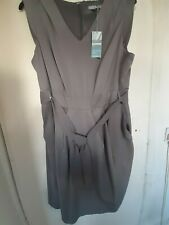 MARKS AND SPENCER GREY SHIFT PINAFORE DRESS SIZE 20 BNWT..