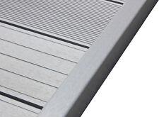 WPC Terrassendielen Abschlussleiste Abdeckleiste L Leiste steingrau 1950x62x37mm